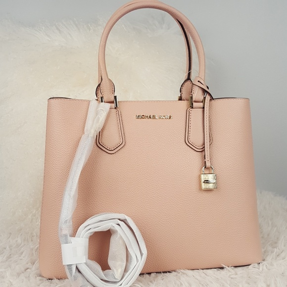 151aba61df5b NWT Michael Kors large Adele pastel pink bag purse